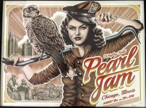 Concert poster from Pearl Jam - Wrigley Field, Chicago, IL, USA - 18. Aug 2018