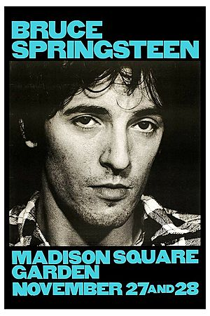 Concert poster from Bruce Springsteen - Madison Square Garden, New York, NY, USA - 28. Nov 1980