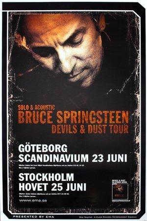 Concert poster from Bruce Springsteen - Hovet, Stockholm, Sweden - 25. Jun 2005