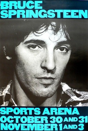 Concert poster from Bruce Springsteen - Los Angeles Memorial Sports Arena, Los Angeles, CA, USA - 31. Oct 1980