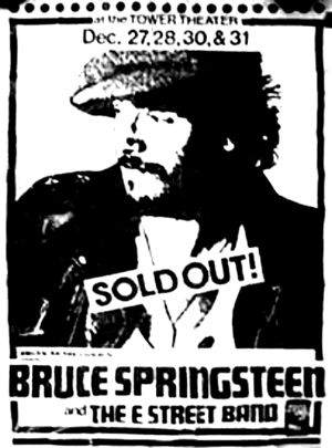 Concert poster from Bruce Springsteen - Tower Theatre, Upper Darby, PA, USA - 31. Dec 1975