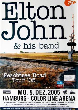 Concert poster from Elton John - Color Line Arena, Hamburg, Germany - 5. Dec 2005