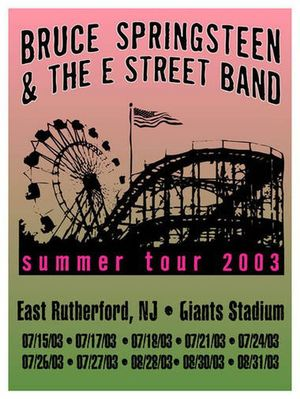 Concert poster from Bruce Springsteen - Giants Stadium, East Rutherford, NJ, USA - 26. Jul 2003