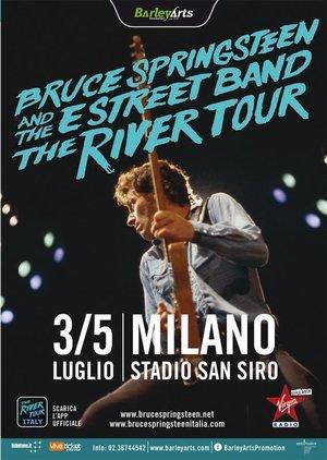 Concert poster from Bruce Springsteen - San Siro, Milano, Italy - 5. Jul 2016