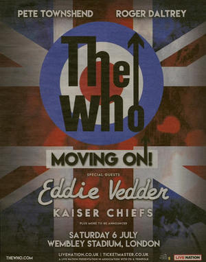 Concert poster from The Who - Wembley Stadium, London, England - 6. Jul 2019
