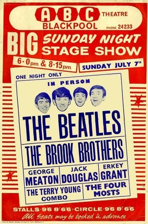 Concert poster from The Beatles - ABC Theatre, Blackpool, England - 7. Jul 1963