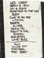 Setlist photo from Nirvana - Logan Campbell Centre, Auckland, New Zealand - 9. Feb 1992