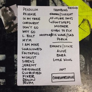 Setlist photo from Pearl Jam - John Paul Jones Arena, Charlottesville, VA, USA - 29. Oct 2013