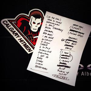 Setlist photo from Pearl Jam - Scotiabank Saddledome, Calgary, AB, Canada - 2. Dec 2013