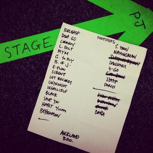 Setlist photo from Pearl Jam - Western Springs Stadium, Auckland, New Zealand - 17. Jan 2014