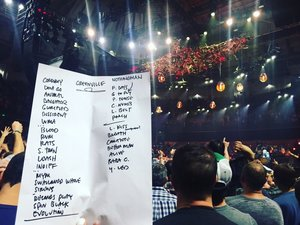 Setlist photo from Pearl Jam - Bon Secours Wellness Arena, Greenville, SC, USA - 16. Apr 2016
